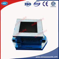 High Quality 100mm Cube Cast Iron Fine Grinding Concrete Testing Molds 8Kg Four Part