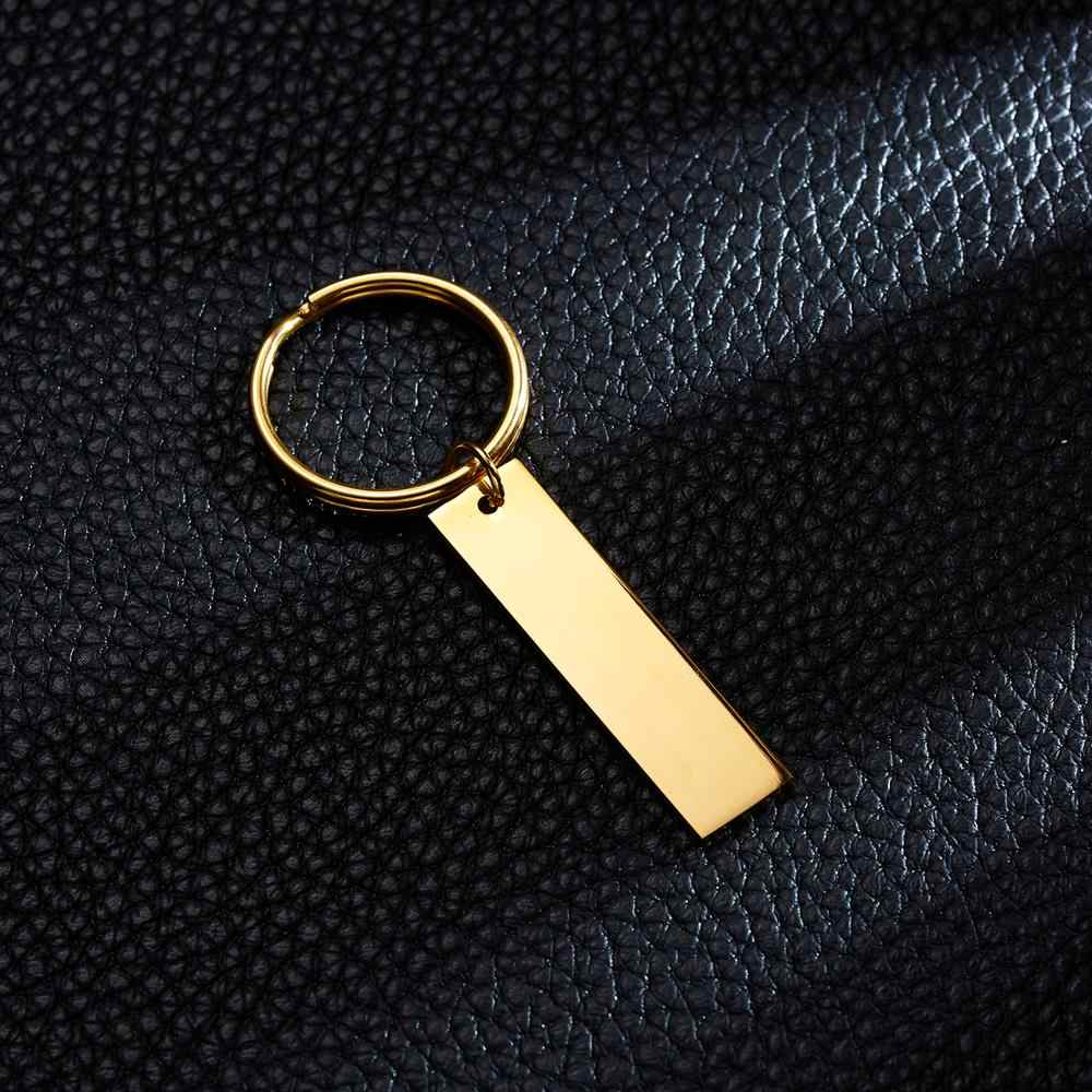 Belleper personalizado gravado chaveiro presente personalizado anti-perdido chaveiro privado personalizado gravado seu nome textos assinatura etc