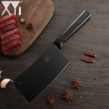 XYj High Grade Stainless Steel Knife Set Japanese Cooking Knife Sharp Chef Black Kitchen Knife Holder Sharpening Cooking Tools