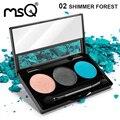MSQ Профессиональный 3 Цветов Тени Для Век Косметика Палитра Матовый Макияж Палитра Для Мода Красота
