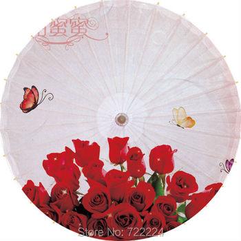Free shipping blue bamboo paintinghandmade umbrella waterproof sunshade dance props oiled paper umbrella unique chinese umbrella