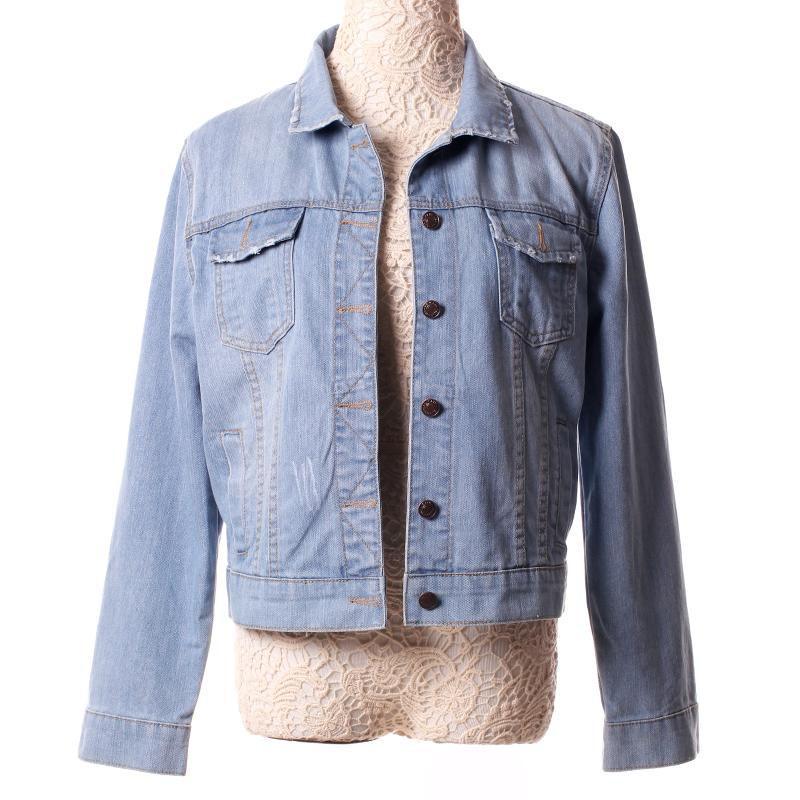 disegni attraenti prezzo limitato sconto più votato Moda Donna Giacca di Jeans Più Il Formato S 5XL Vintage Corta ...
