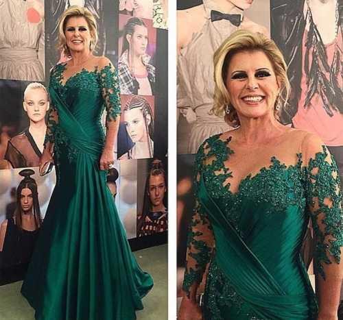 Donkergroen Arabische Mermaid Avondjurken 2020 Robe De Soiree Half Sleeve Formele Gown Vrouwen Party Prom Dress Custom Made