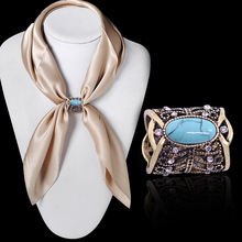 Lapel bohemia turquoise bronze pins brooch clips buckle scarf newest plated