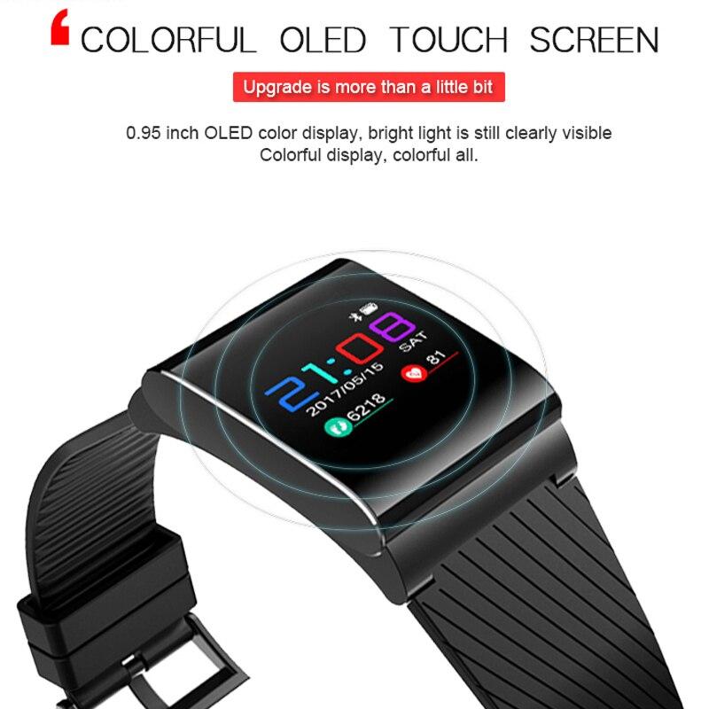 2 шт. Новинка 2017 X9 PRO Smart Браслет Приборы для измерения артериального давления сердечного ритма Мониторы Bluetooth SmartBand Цвет OLED предупреждение ... ...