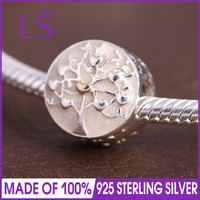 LS High Quality Genuine 925 Silver Tree Of Hearts Charm Beads Fit European Bracelets Bangles Authentic