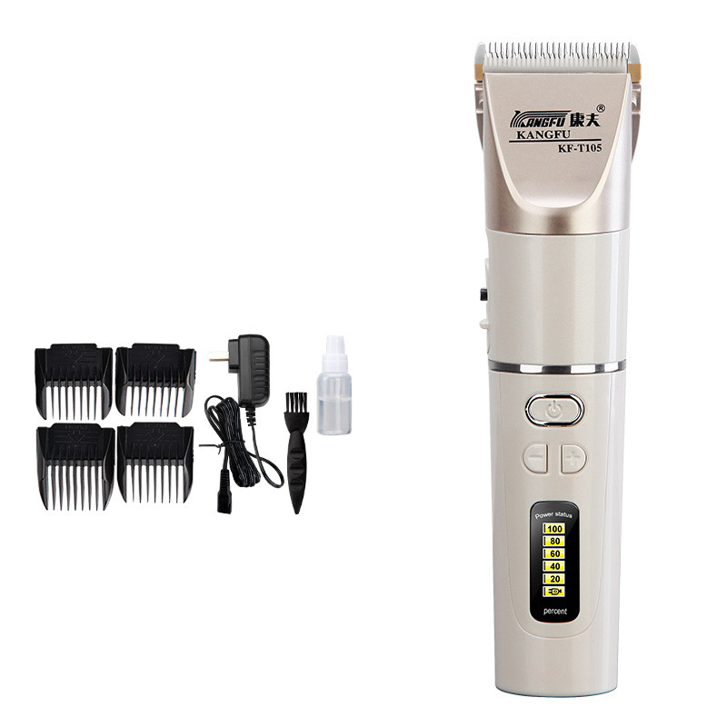 New Hair trimmer clipper lithium battery 2200 mah Rechargeable fine-tuning Quick charge Power display ceramic blade 100-240V kemei838 intelligent lcd display li ion battery rechargeable hair clipper speed control hair trimmer with charge stand 110 240v