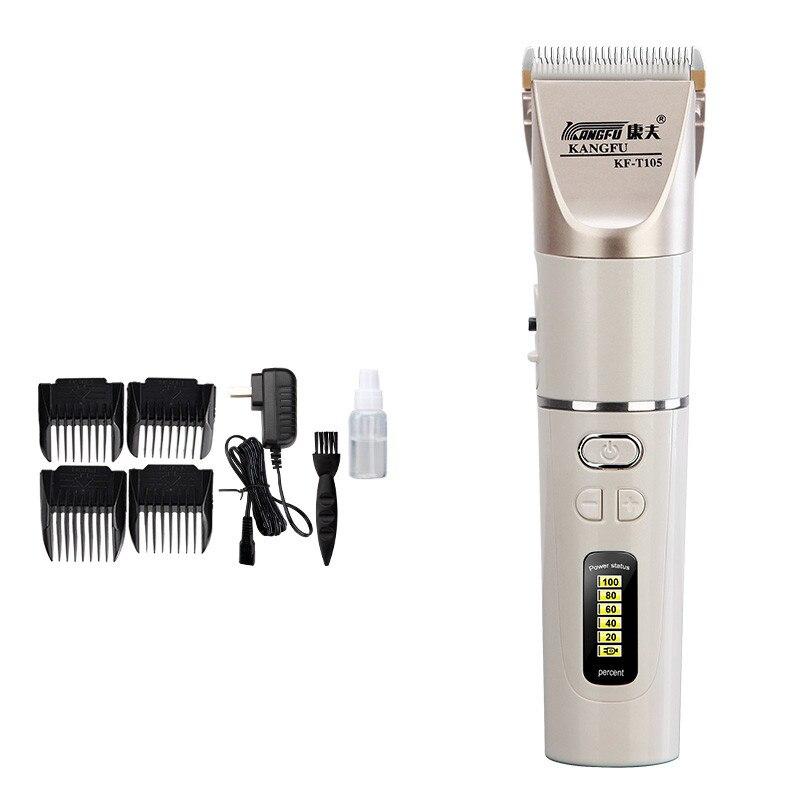 Nouvelle tondeuse cheveux clipper batterie au lithium 2200 mah Rechargeable réglage rapide charge affichage de puissance lame en céramique 100-240 V