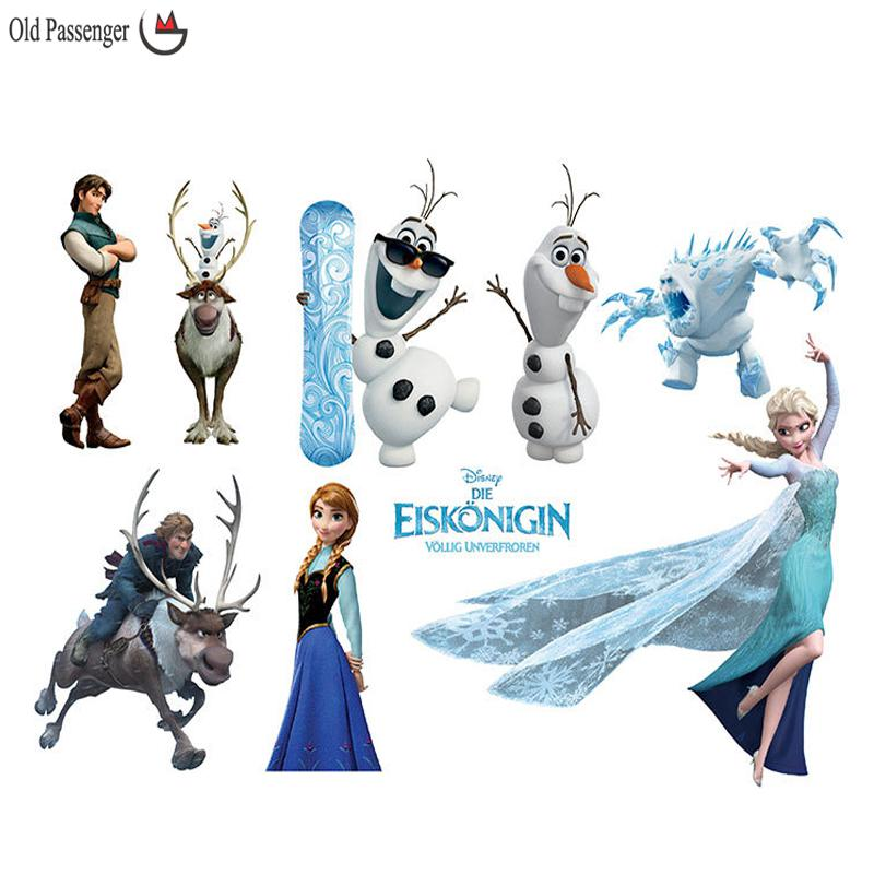 The film Large Elsa Christmas Wall Stickers Bedroom Decoration Olaf Wall Decal for Kids Rooms Decor Wall Stickers For Kids Rooms