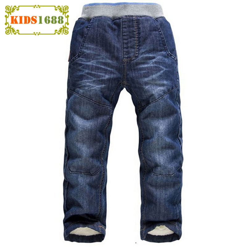 3-7T Fashion Children Pants Winter Warm Cashmere Boys Jeans Straight Casual Trousers Baby Boy Winter Trousers Top Quality ninos sosocoer boys jeans kids clothes winter thick warm boy cowboy pants high quality girls trousers fashion casual children costume