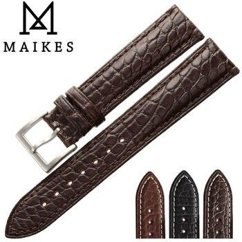 Alligator Uhrenarmband | MAIKES Top Qualität New Echtes Alligatorlederarmband 14mm-24mm Größe Krokodilleder Uhrenarmband Fall Für Tissot OMEGA Longines