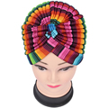Free Shipping 2016 New Women  Multicolor Striped Wave Printed Turban Hats