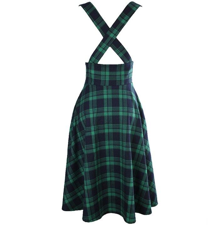 up As Pin En Taille Show Jupe La Rockabilly Tartan 50 20 Jupes Rétro Plus Vert Faldas Femmes Vintage Brace S Swing hiver Jarretelles Midi OwCqx7fw