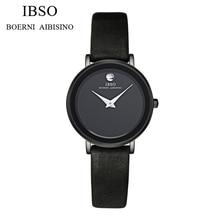Hot Luxury Brand IBSO Orologio Donna Moda A Prueba de agua Reloj de Señoras Reloj de pulsera de Reloj de Mujer de Cuarzo de Cuero Ocasional de Las Mujeres