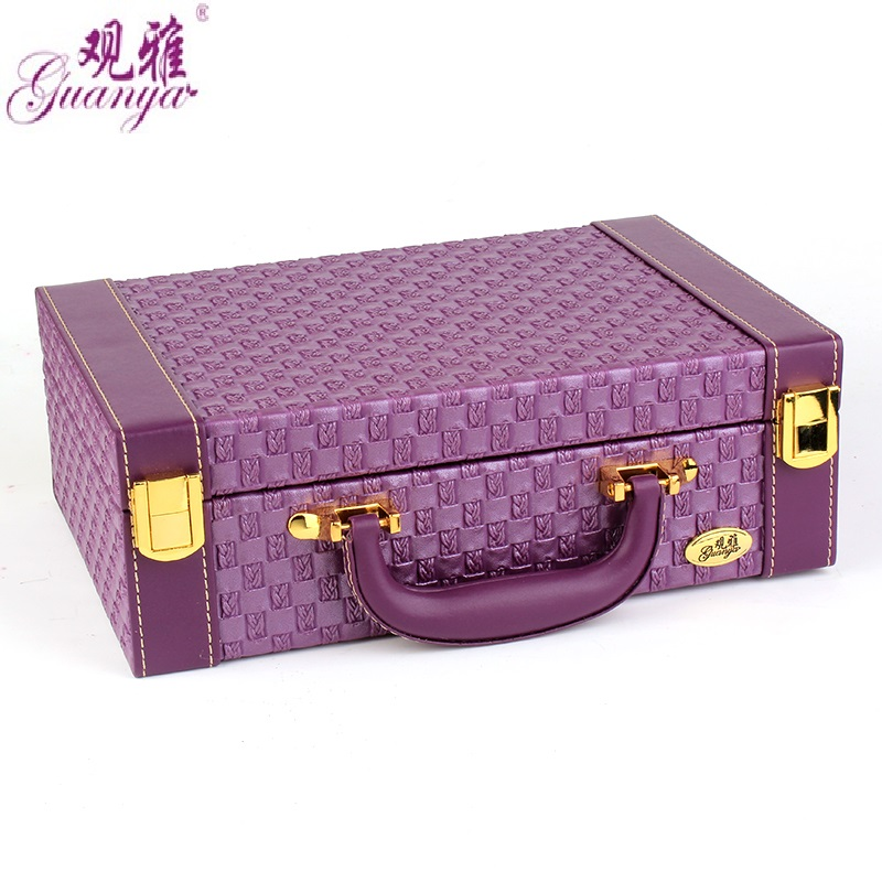 Wholesale Jewelry Display Leather Pattern Casket Senior Jewelry Box Organizer Case For Jewelry Storage Gift Box
