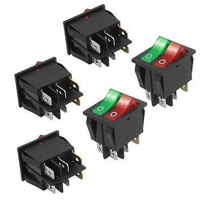 Высокое качество 5 шт. 6 Булавки SPST красный зеленый неоновый свет вкл/выкл кулисный переключатель AC 250 В/ 15A 125 В/20A