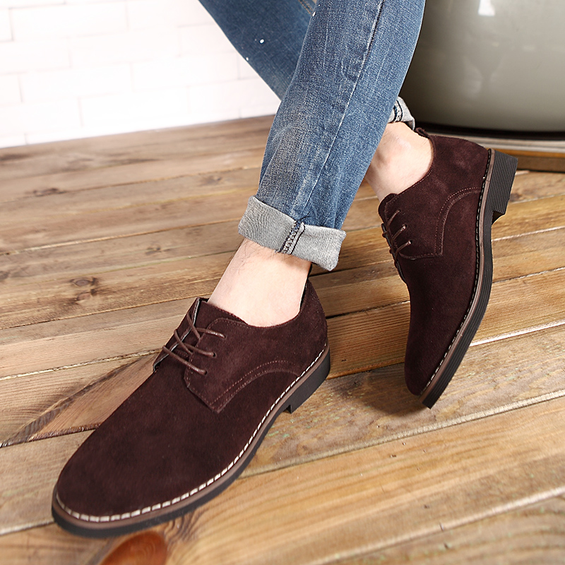HTB1hdM5aScqBKNjSZFgq6x kXXa5 - Suede Leather Oxford Men's Casual Shoes-Suede Leather Oxford Men's Casual Shoes