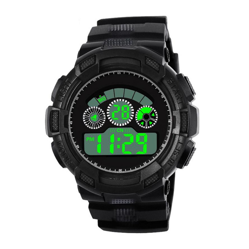 Men Watches 2018 Luxury Brand Analog Digital Military Army Silicone Band Sport LED Waterproof Wrist Watch Montre Homme Sport все цены