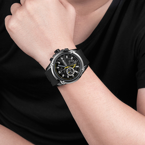 Image 4 - MEGIR Fashion Men Watch Top Brand Luxury Chronograph Waterproof Sport Mens Watches Silicone Automatic Date Military Wristwatch