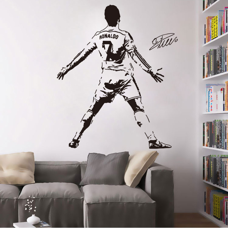 Buy decal wall cristiano ronaldo and get free shipping on aliexpress voltagebd Choice Image
