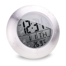 NEW!!!Waterproof Bathroom Electronic LED Digital Clock Super Induction Thermometer Wall Clock Modern Design