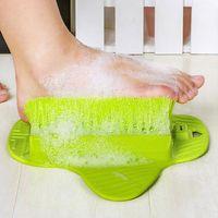 New Plastic Feet Cleaning Brush Stronger Easy Feet Foot Massager Brush Cleaner Sucker Creative Designer Brush
