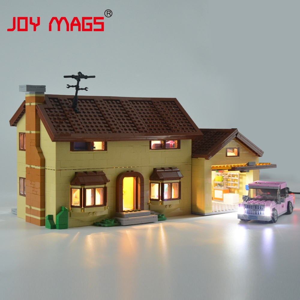 JOY MAGS Led Light Kit (Only Light Set) For The Simpsons House Light Set Compatible With 71006 (Not Include The Model)
