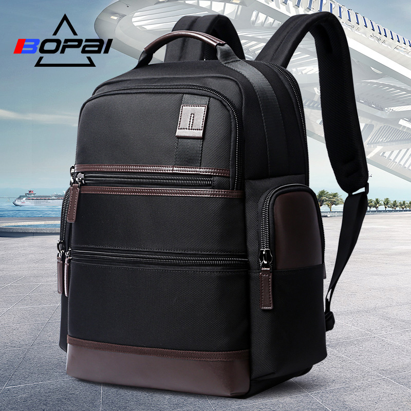 BOPAI 14-15.6 Inch Oxford Laptop Backpack Men Women Weekend Travel Backpacks USB Charging Black School Computer Notebook Bags new design usb charging men s backpacks male business travel women teenagers student school bags simple notebook laptop backpack