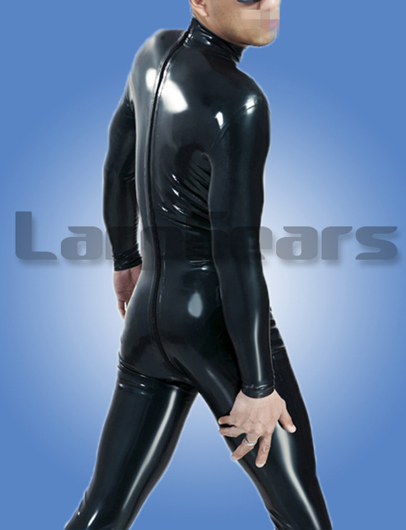 Latex Catsuit Men Latex Unitard Without Socks Party Wear Jumpsuit Customized