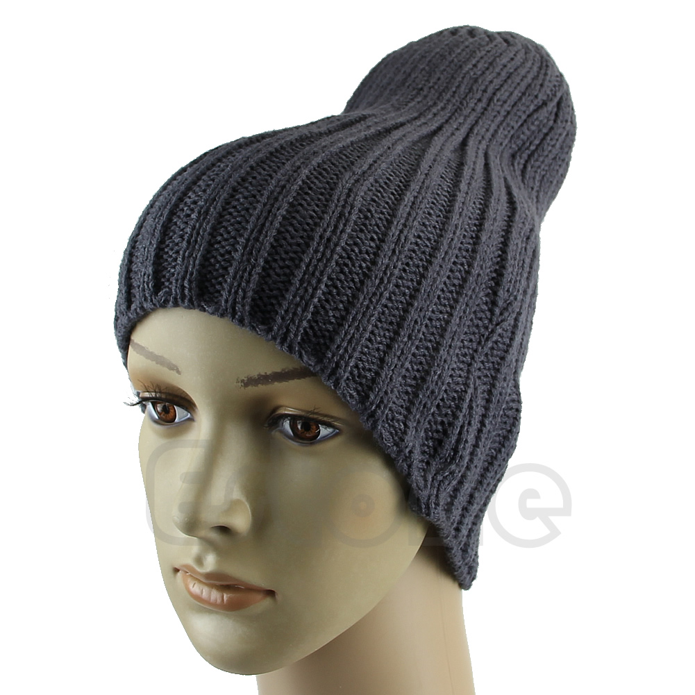 86e4af6865cb29 1 PC Hot Men Stylish Hip-Hop Warm Winter Wo Knit Ski Unisex Beanie Skull  Cap Hat