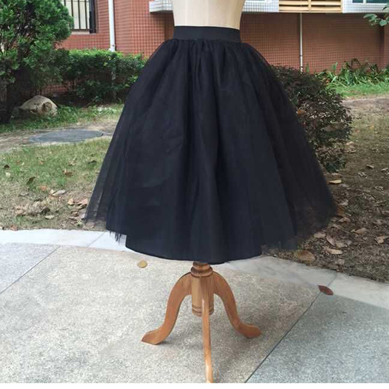 2f249a199b1 Tulle Princess Skirt Puff Womens 2019 Lolita Jupe White Mesh Skirt Ballet  Girl 5XL Plus Size Black Christmas Party Dance Wear-in Skirts from Women s  ...