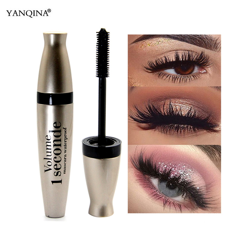 <font><b>3D</b></font> Faser Schwarz <font><b>Mascara</b></font> Lange Wimpern Make-Up Silikon Pinsel Großen Augen Make-up Wimpern Verlängerung Wasserdicht <font><b>Mascara</b></font> Geschwungene Werkzeug image