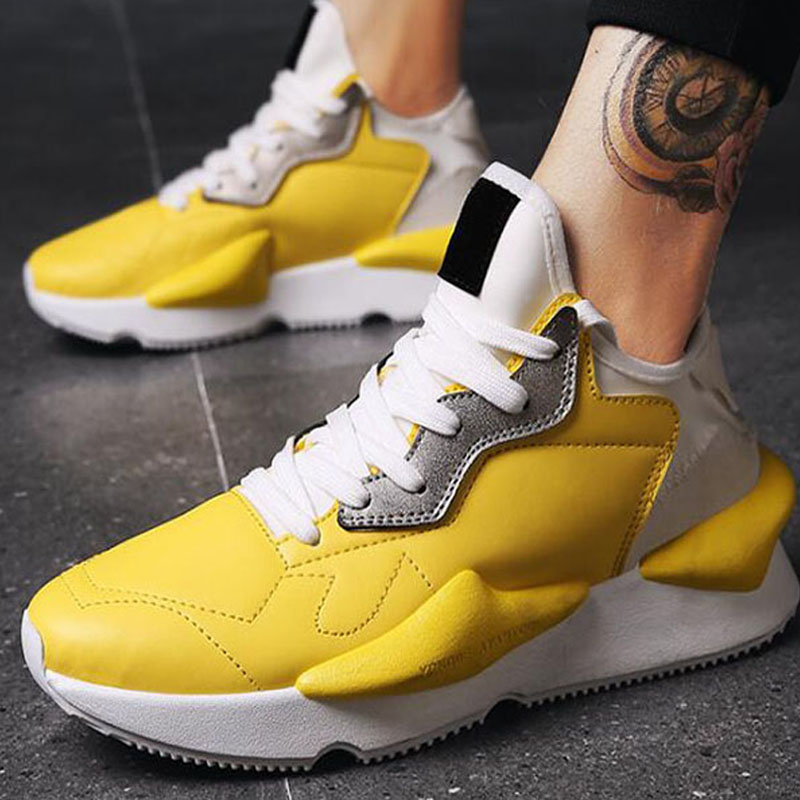 New Design Fashion Lace up Men's Red Black Yellow Shoes Men Casual Shoes Light Mens sneaker shoes LE-08 спот idlamp 844 3pf oldbronze