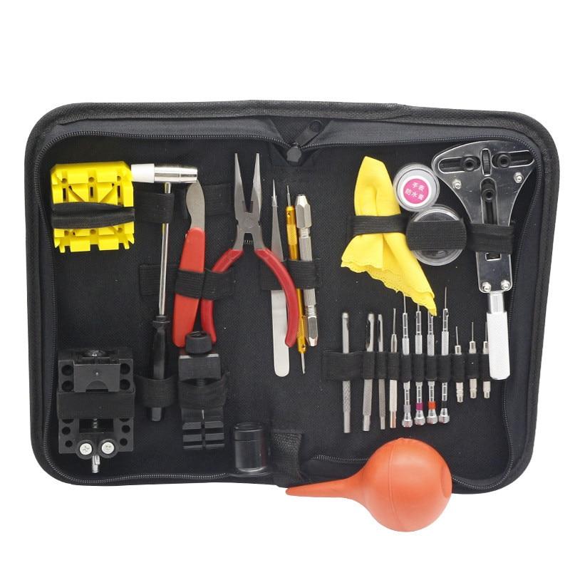 27 ensembles de petite taille portable pratique kit de réparation remplacement montre batterie montre accessoires montre outil de réparation