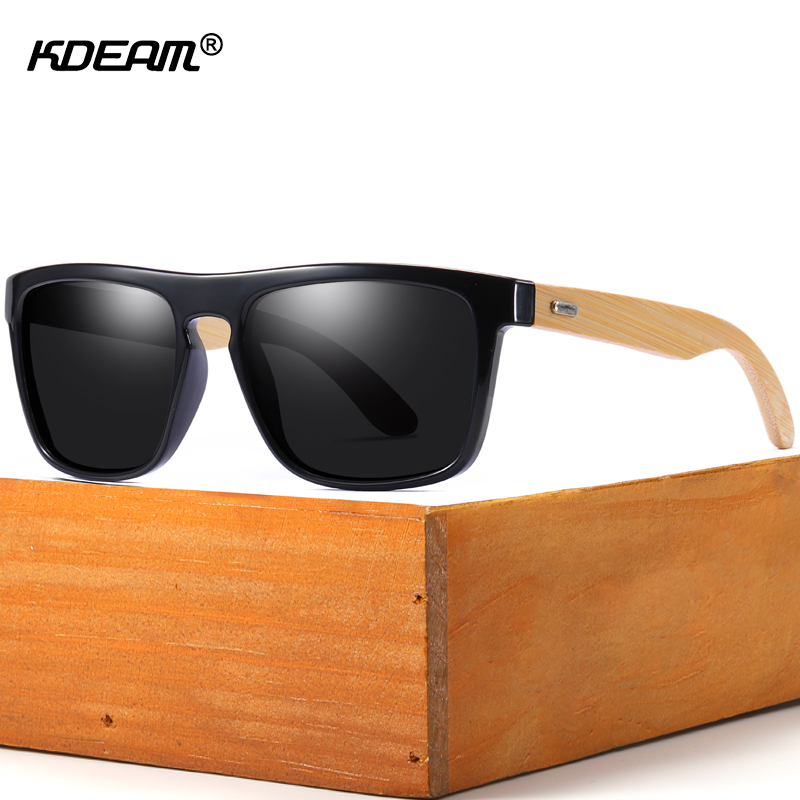 KDEAM Natural Bamboo Sunglasses Men Polarized Ferris Fashion Traveling Sun Glasses Wood oculos Match For Women Shades With Case in Men 39 s Sunglasses from Apparel Accessories