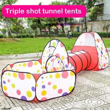 Tent Tunnel Baby Kids Play House Pool-Tube-Teepee 3pc Pop-up Play Tent Children Tunnel tunnel