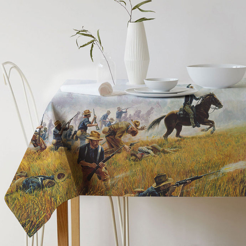 Tablecloth for table Linen Decorative table cloth Dining Table Cover Mort Kunstler Painting Art war For Kitchen Home Decor