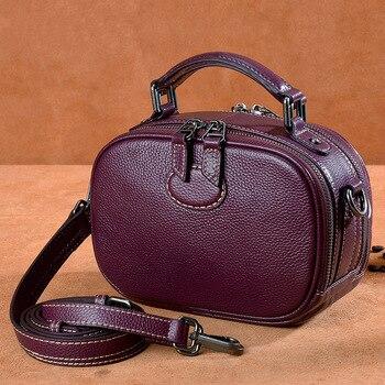 Classic women's Genuine leather shoulder bags Handbag Multi-function Designer Messenger Cow Leather Crossbody Flap bag