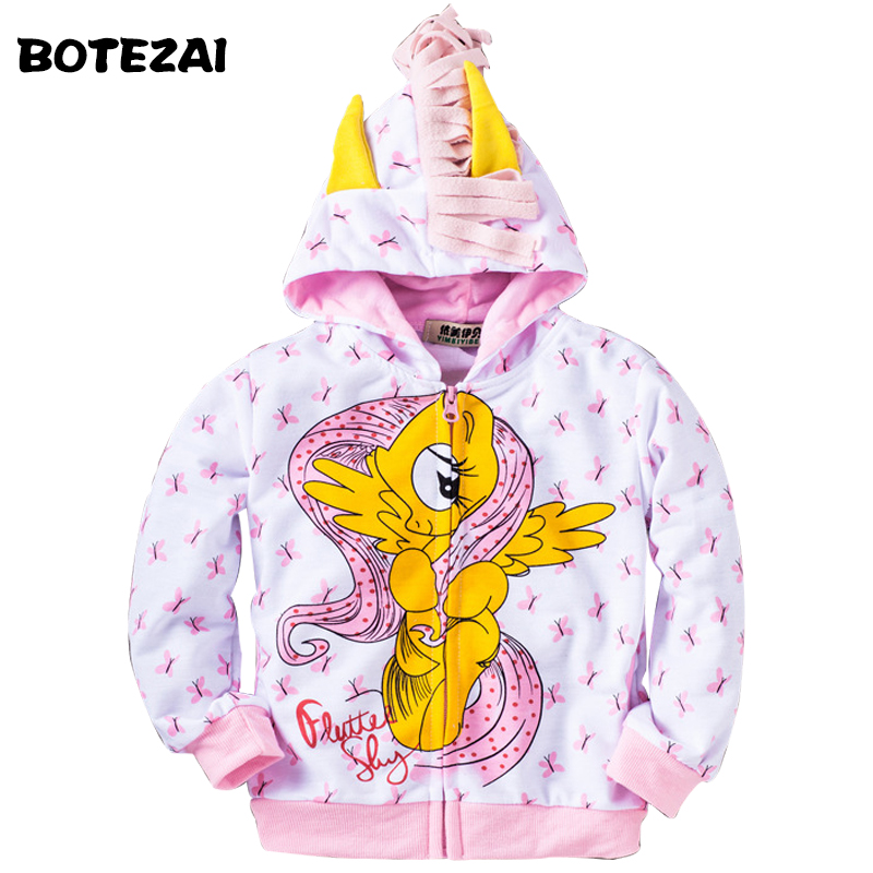 2017 My Cute little Girl ponys Kids Cartoon Jacket Children Jaqueta Outerwear & Coats Meninas Jackets for spring and autumn