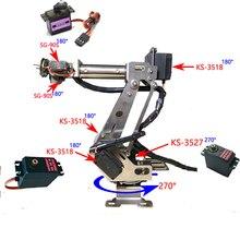 Tam Montajlı 6 Eksen Mekanik robotik kol Kelepçe, Arduino için Ahududu mor Dhl ücretsiz kargo bazı alanları