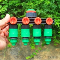 100Sets 4 Way Shunt Water pipe connector Water diverter Drip garden irrigation 4/7 or 8/11 Hose Connector Fitting