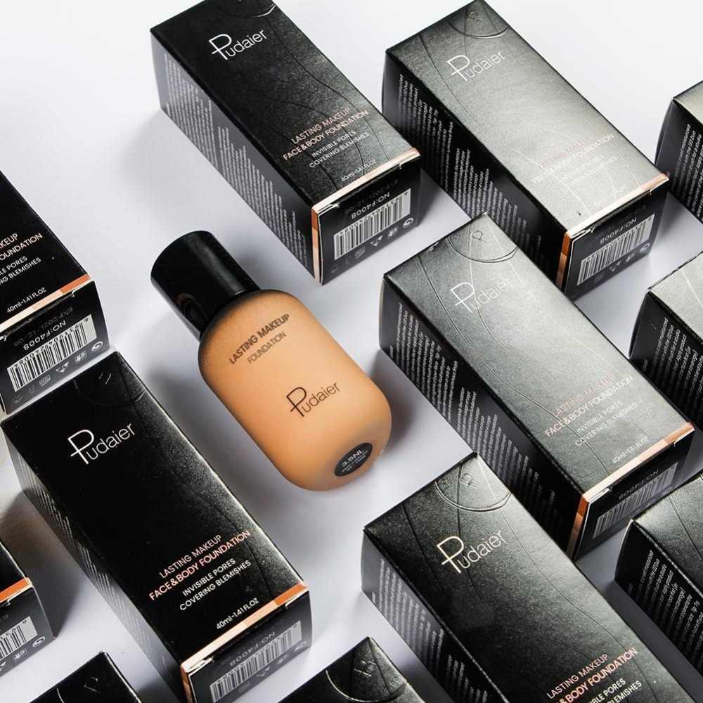 Pudaier מותג בסיס איפור פנים בסיס נוזלי מט עירום איפור קונסילר קרם עמיד למים טבעי שמש בלוק