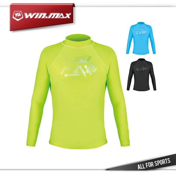 5ca4a0e272 Winmax UV50 + Proteção Mangas Compridas Camisa   Lycra Rash Guard Surf  Mergulho Terno Camisa para