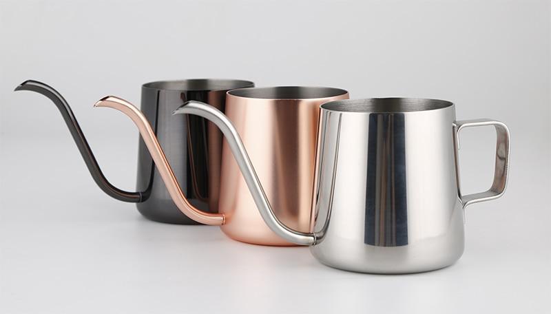 Fei 1pcs 2016 new arrival 3 colors Drip Coffee Kettle pot stainless steel gooseneck spout Kettle