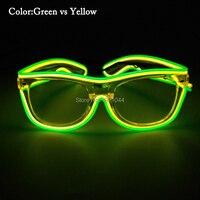 Рейв участника костюм DJ яркий Солнцезащитные очки для женщин + Звуковая активация LED неон Веревка Tube событие для вечеринок