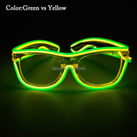 Rave Costume Party DJ Bright Sunglasses+Sound activated LED neon rope tube Event Party Supplies
