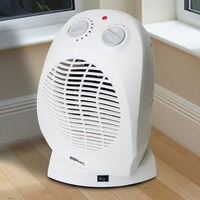 Upright Home 2kw Oscillating Portable Fan Heater Cold Blow Adjustable Thermostat