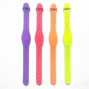 Image 2 - 125KHZ Read Only Adjustable Silicone Waterproof RFID Wristband Bracelet TK4100 ID Tags EM4100 Keyfobs Tag Token Band