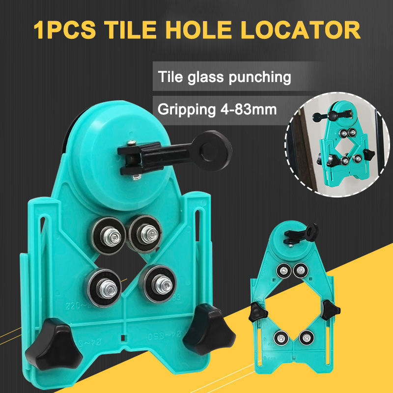 Drill Tile Hole Locator Tile Glass Hole Locator Saw Core Bit Guide Opening Adjustable 4-83mm CLH@8