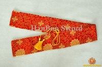 Japoński Samuraj Miecz Katana Torby Czerwone Chmury Sprzyjające Styl Sztuczny Jedwab Załadowane Przypadku Niestandardowych Miecze Armatura Nowa Hurtownia
